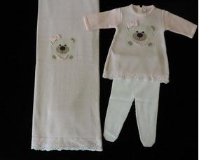 Saída De Maternidade Petit Mouton Vestido De Ursinha