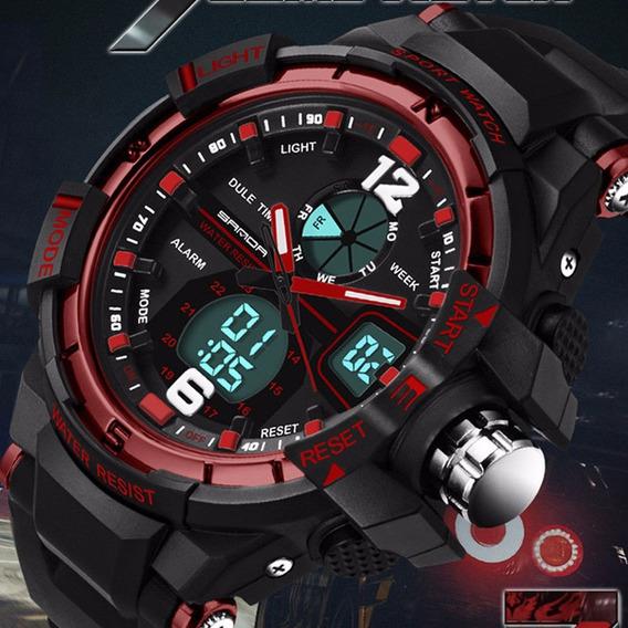 Relógio Masculino Esportivo Dual Digital E Analógico C/luz!!