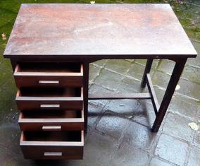 Mini Escrivaninha Antiga Madeira Criança Escola Sp Retirada