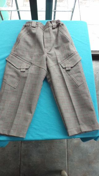 Pantalón Para Niño De Gabardina - Talles: 3 -4