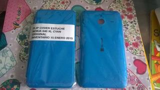 Stock Protector Estuche Lumia 640xl 640 Xl Flip Cover Stock