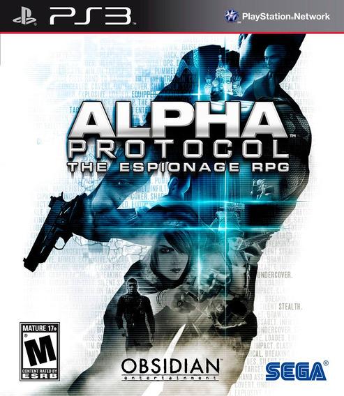 Jogo Alpha Protocol The Espionage Rpg Ps3 Mídia Física Game