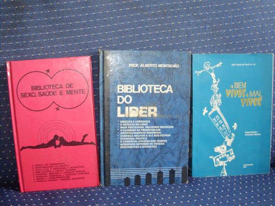 Lote 3 Livros 1 Bem Viver Mal Viver Eca Usp + 2 Antigos