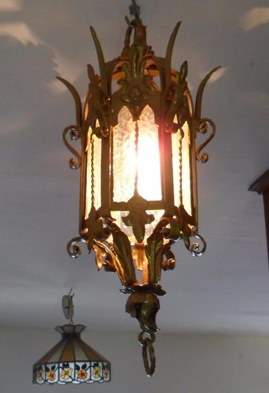 Luminaria Lanterna Antiga Ferro Art Nouveau - Linha Colonial