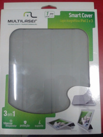 Smart Cover Capa Magnetica Ipad 2 E 3 Cinza