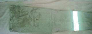 Pantalon Cargo 6 Bolsas Con Reflejante Gabardina Paramedico