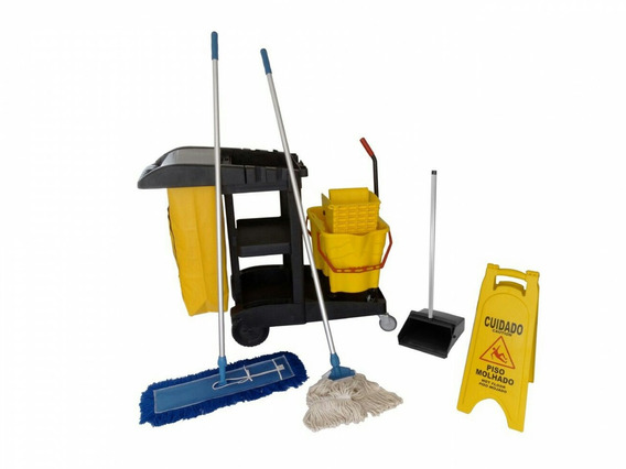 Carrinho De Limpeza Funcional Completo