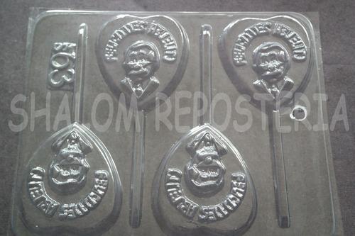 Imagen 1 de 3 de *molde Paletas De Chocolate Felicidades Abuelito Papa*