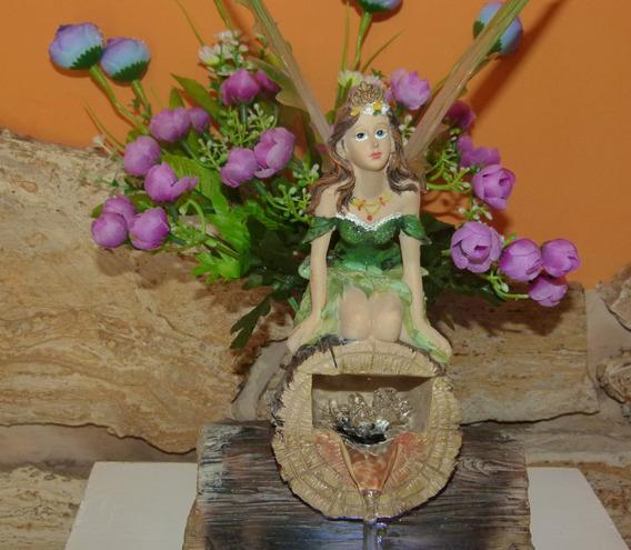 Fuente De Agua Con Hada Y Luz 15 Años Ceremonia Velas Adorno