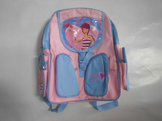 Mochila Escolar Infantil Feminina Rosa Fosco