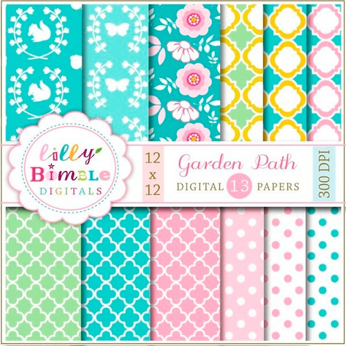 Kit Imprimible Pack Fondos Shabby Chic Clipart Cod 20