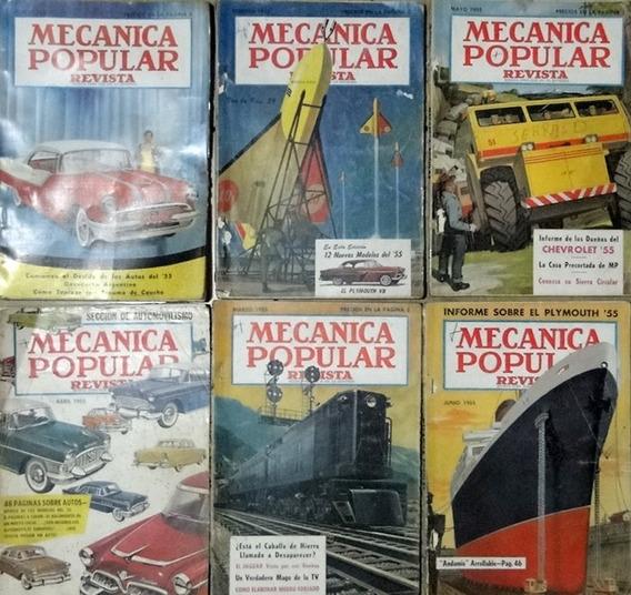 Revista Mecânica Popular 12 Exemplares 1955 Completo