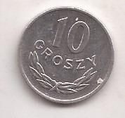 Polonia Moneda De 10 Groszy Año 1949 !!