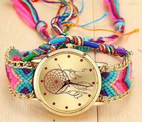 Relógio Handmade Trançado Dreamcatcher