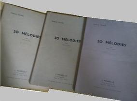Gabriel Fauré 3 Livros 60 Melodias P/ Piano Soprano Francês