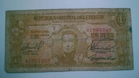 Nota De 1 Peso Do Uruguay
