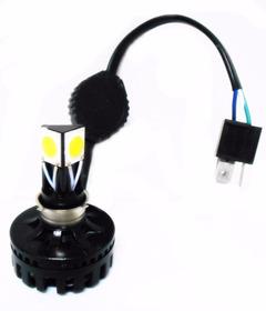 Lampada 3 Leds Com Reator 18w 2800lm  H4 / H7 / H11