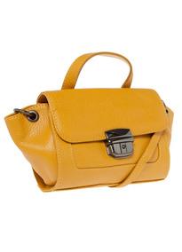 Bolsa Couro Dumond Amarela   Original