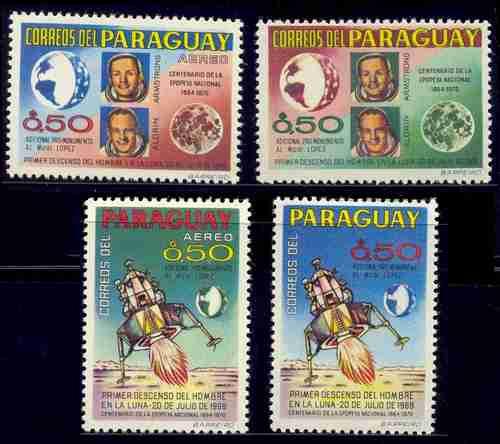 Paraguay 1968 Astrofilatelia Serie Completa Dentada Mint