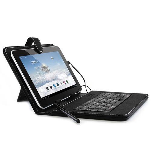 Funda Estuche Eco Cuero Teclado Tablet 8 Pulgadas