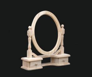 Marco Espejo Oval En Madera Maciza