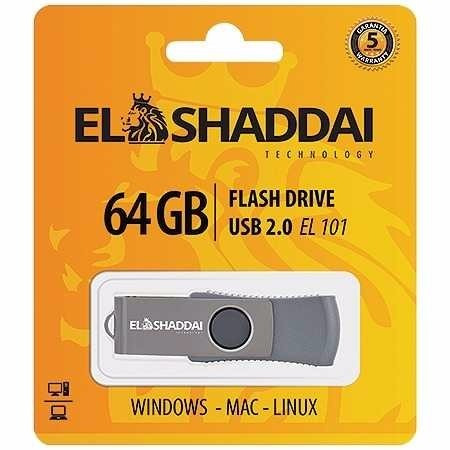 Pen Drive El Shaddai 64 Gb Com 5 Anos De Garantia