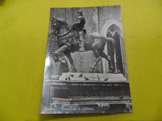 Antigua Tarjeta Postal Venezia Monumento A Colleoni Ardo