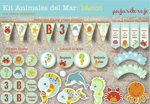 Kit Animales Del Mar