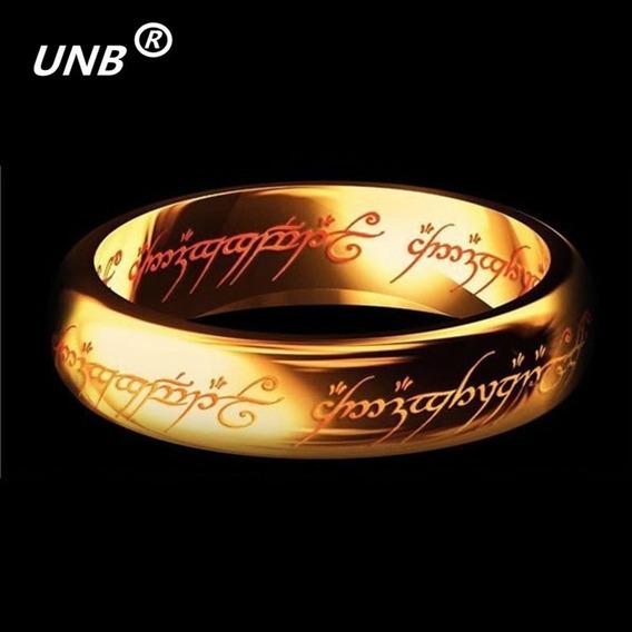 Anel De Ouro De Tungstênio Do Poder Do Senhor Dos Anéis