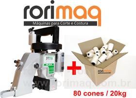 Máquina P/ Fechar Costura Boca De Saco Sacaria + 80 Cones Nf