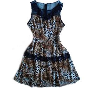 Promoção Vestido Leopardo Sem Mangas De Oncinha Para Balada