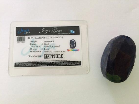 Atraente 599.60ct Oval Cut 100% Natural Sapphire Azul