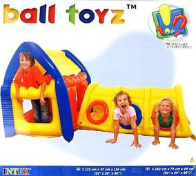 Casa Com Tunel Inflável Intex Ball Toyz - Toca Infantil