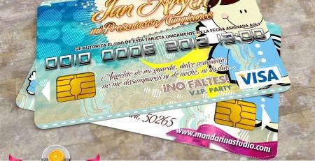 30 Invitaciones Tarjeta De Credito Diseño Gratis Eventos
