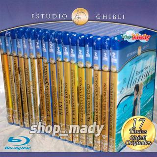 Paq. 17 Peliculas Studio Ghibli - Blu-ray Disc Región A Zima