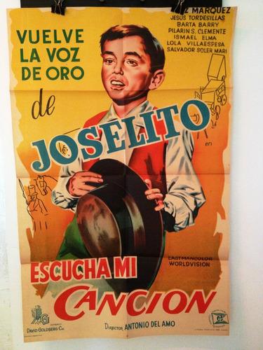 Afiche De Cine Original Escucha Mi Canción Joselito Mercado Libre