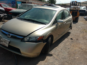 Honda Civic 2008 4p Dat Exl Sedan Aut Accidentado X Partes