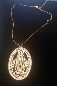 Colar Nossa Senhora Das Graças Semi-joia Banhada A Ouro 18k