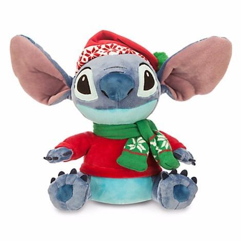 Disney Store Stitch De Natal - Pelúcia Pequeno 27.5cm