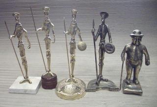 Esculturas Bronce, Don Quijote, Sancho, Coleccion Por Unidad