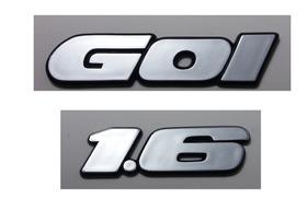 Kit Emblemas Volkswagen Gol (quadrado) 1.6 90 À 97 + Brinde