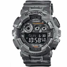 Relógio Casio G-shock Gd-120cm-8dr Camuflado 12x S Juros