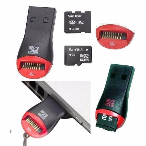 Mini Leitor Usb Para Cartão Micro Sd Até 32 Gb - Lacrado