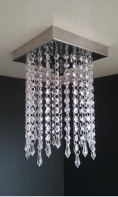 Lustre Cristal Acrilico Sala De Jantar Moderno Barato Veneza