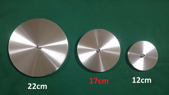 Canopla 17cm Em Alumínio Preta, Branca, Alumínio Escovado