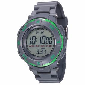 Relógio Masculino Speedo Borracha Grande Cinza Esportivo