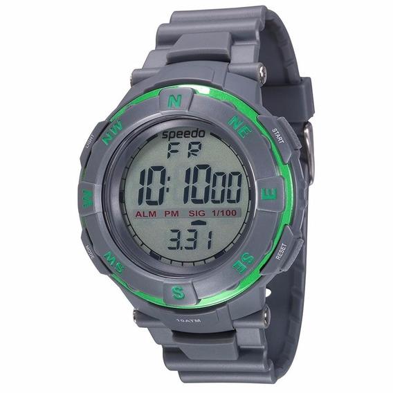 Relógio Masculino Speedo Borracha Cronômetro 81064g0evnp2
