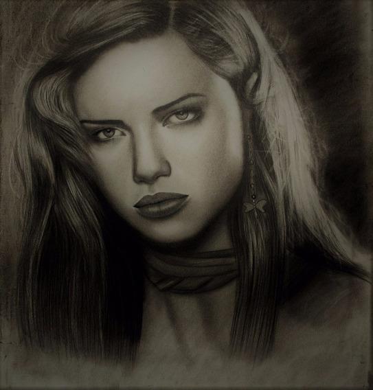 Dibujo Retratos Por Encargo A Lapiz,carbonilla,sepia 35x50