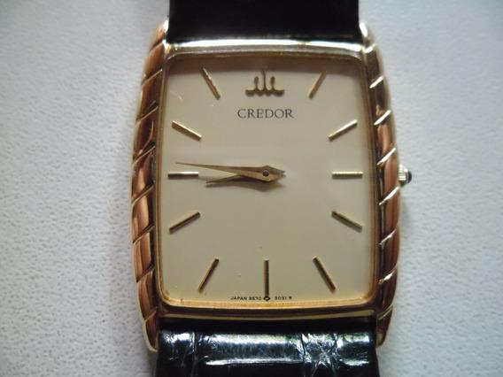 Relógio De Ouro 18kt Credor Quartz .frete Grátis