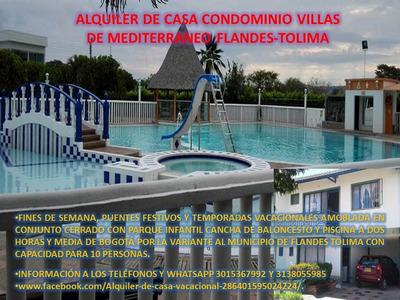 Alquiler De Casa Vacacional Condominio Flandes-tolima